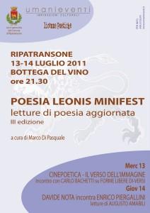 Poesia Leonis Minifest - 13 e 14 Luglio 2011