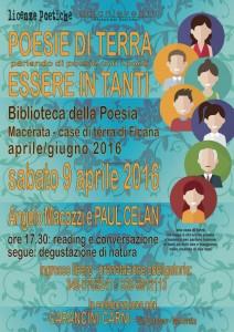 POESIE DI TERRA - ESSERE IN TANTI - Angelo Macozzi e Paul Celan