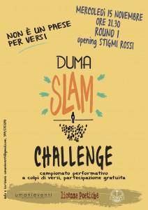 DUMA SLAM CHALLENGE – PRIMA SERATA!