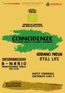 COINCIDENZE – ADRIANO PADUA – STILL LIFE @ B-NARIO